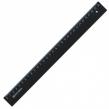 Линейка пластик 30 см, BRAUBERG, непрозрачная, черная (210612)