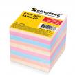 Блок для записей BRAUBERG , непроклеенный, 9×9х9, цветной