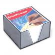 Блок для записей ERICH KRAUSE в подставке прозрачной, куб 9×9х5, белый
