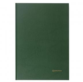 Книга учета 96 л., клетка, твердая, бумвинил, блок офсет, А4 (200×290 мм), BRAUBERG, зеленая (130222)