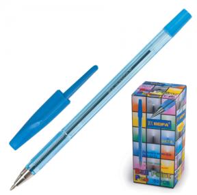 Ручка шариковая BEIFA 927, корпус прозрачный, металлический наконечник, 0,7 мм, синяя