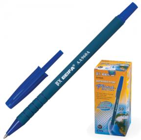 Ручка шариковая BEIFA (Бэйфа), корпус матовый, металлический наконечник,  0,7 мм, синяя (141737)
