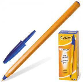 Ручка шариковая BIC «Orange», корпус оранжевый, синие детали,  0,36 мм, синяя