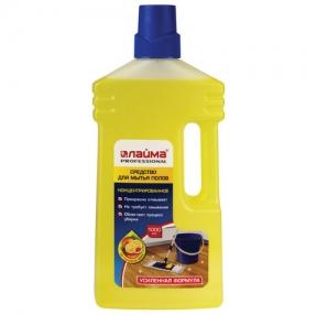 Средство для мытья пола 1 л, ЛАЙМА PROFESSIONAL концентрат, «Цитрусовый микс», усилен. формула (604795)