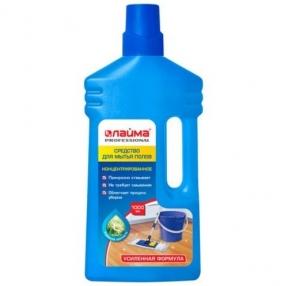 Средство для мытья пола 1 л, ЛАЙМА PROFESSIONAL концентрат, Утренняя свежесть, усиленная формула (604796)