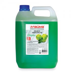 Мыло-крем жидкое ЛАЙМА PROFESSIONAL, 5 л, Яблоко, с антибактериальным эффектом