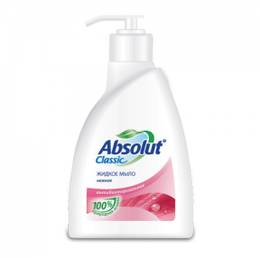 Мыло жидкое ABSOLUT, 250 мл, «Нежное», антибактериальное, дозатор