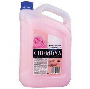 Мыло-крем жидкое 5 л КРЕМОНА Розовое масло, Премиум, перламутровое, из натуральных компонентов (605719)
