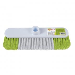 Щетка для уборки, ширина 31 см, щетина 8 см двуцветная, пластик, крепление еврорезьба, ЛЮБАША (603629)