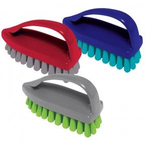 Щетка для одежды/обуви, средняя, 7,5×10,5×4,5 см, пластик, цвет ассорти, Утюжок, YORK, 40020 (604598)
