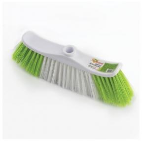 Щетка для уборки, ширина 25 см, щетина 8 см двухцветная, пластик, крепление еврорезьба, ЛЮБАША (605030)