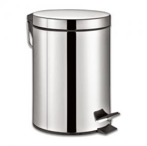 Ведро-контейнер для мусора с педалью ЛАЙМА «Classic», 12 л, зеркальное