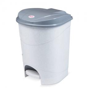 Ведро-контейнер 19 л, с крышкой и педалью, для мусора,IDEA 38×29×30 см, серое