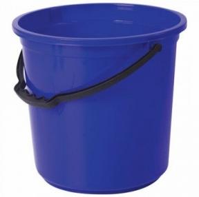 Ведро 12 л, без крышки, пластиковое, пищевое, с узором, синий, мерная шкала, ЛАЙМА (603894)