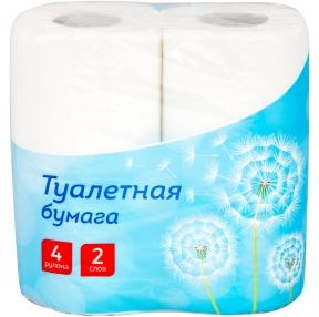 Бумага туалетная OFFICECLEAN 2-х слойная., 4 шт., тиснение, белая