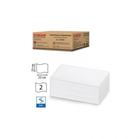 Полотенца бумажные 200 штук, ЛАЙМА (Система H3), Комп. 15 шт., классик, 2-х слойные, белые, 23×23, ZZ(V), (126094)