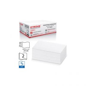 Полотенца бумажные 200 штук, ЛАЙМА (Система H3), комплект 15 шт., люкс, 2-х слойные, белые, 23×23, ZZ(V), 126095