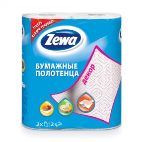 Полотенце бумажное ZEWA «Decor», 2-х слойное, спайка 2 шт. х 15 м, белое