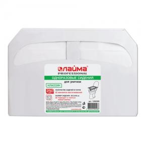 Покрытия на унитаз ЛАЙМА классик, бумажные, 250 штук, белые, 36,5×42 см