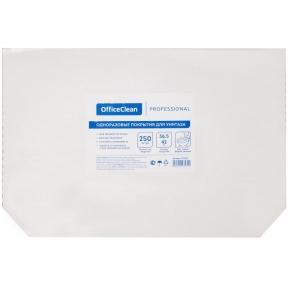 Одноразовые бумажные покрытия на унитаз, OfficeClean Professional (V1), 36,5*42см, 250шт., белые (279682)