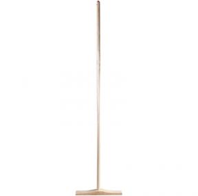 Швабра деревянная (плоская), длина черенка 130 см,рабочая часть 30см, Россия