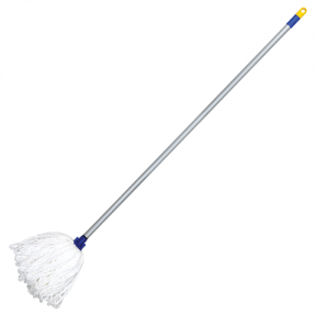 Швабра ЛАЙМА, ручка 120 см, насадка МОП микрофибра, длина ворса 24 см