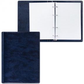 Тетрадь на кольцах, 90 л., А5, 140×205 мм, обложка ПВХ, клетка, синяя