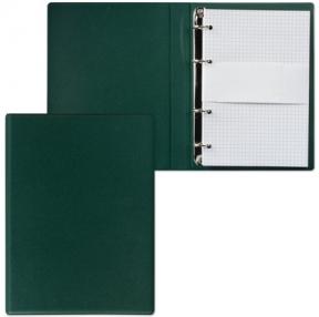 Тетрадь на кольцах, 90 л., А5, 140×205 мм, обложка ПВХ, клетка, зеленая