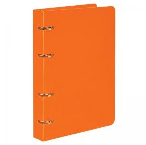 Тетрадь на кольцах, BRAUBERG, А5 (160×215 мм), 80 л., пластиковая обложка, клетка, оранжевый (403253)