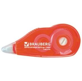 Корректирующая лента BRAUBERG, 5 мм х 6 м, с подкручиванием