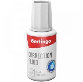 Корректирующая жидкость Berlingo, 20мл, водная, с кистью (103942)