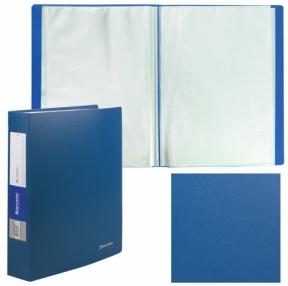 Папка 80 вкладышей BRAUBERG «Office», синяя, 0,8 мм (222638)
