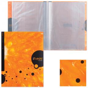 Папка 20 вкладышей «Хатбер» HD, «iFRESH-апельсин», 0,9 мм