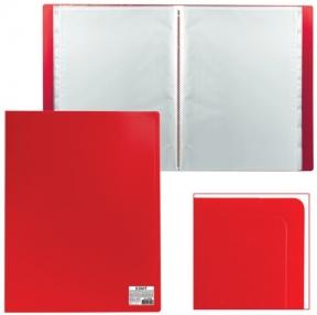 Папка 30 вкладышей STAFF эконом, красная, 0,5 мм (225698)