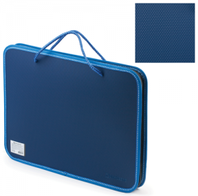 Папка на молнии пластиковая с ручками BRAUBERG , А4, 350×270×45 мм, фактура бисер, синяя