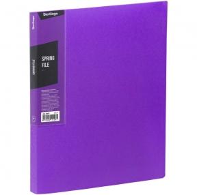 Папка с зажимом Berlingo, Color Zone, 17мм, 600мкм, фиолетовая (274765)