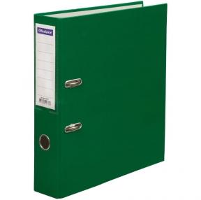 Папка-регистратор OfficeSpace, 70мм, бумвинил, с карманом на корешке, зеленая (162577)