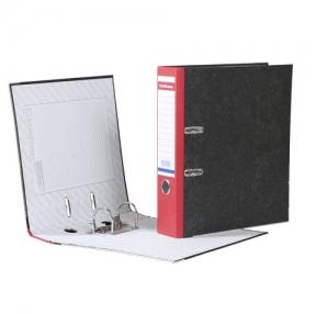 Папка-регистратор ERICH KRAUSE, с мраморным покрытием, 70 мм, красный корешок
