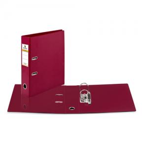 Папка-регистратор BRAUBERG  с двухсторонним покрытием из ПВХ, 70 мм, бордовая
