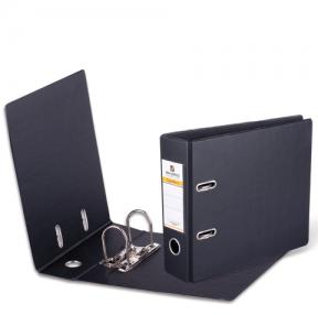 Папка-регистратор BRAUBERG , А5, горизонтальная, с двухсторонним покрытием из ПВХ, 70 мм, черная