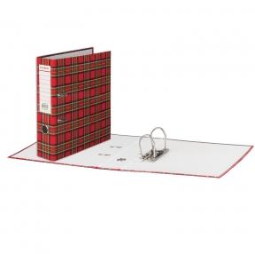 Папка-регистратор BRAUBERG, ламинированная, 75 мм, шотландка (222074)