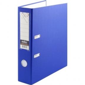 Папка-регистратор INDEX с карманом, 80 мм, PVC, синяя 11978 (С09706)
