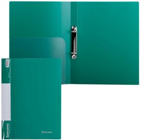 Папка 2 кольца BRAUBERG Стандарт, 25мм, зеленая, до 170 листов, 0,8мм