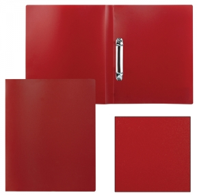 Папка на 2 кольцах STAFF эконом, 21 мм, красная, до 80 листов