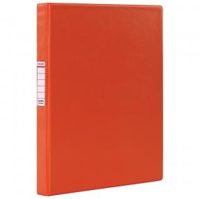 Папка на 2 кольцах BRAUBERG, картон/ПВХ, 35 мм, красная, до 180 листов (228378)
