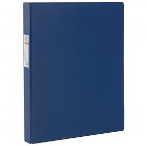 Папка на 4 кольцах BRAUBERG, картон/ПВХ, 35 мм, синяя, до 250 листов (удвоенный срок службы) (221484)