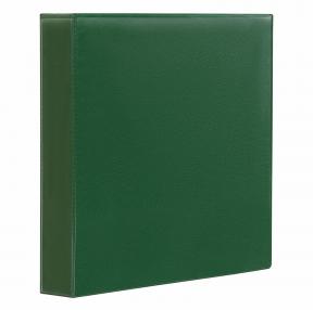Папка на 4 кольца с передним прозрачным карманом BRAUBERG, картон/ПВХ, 65 мм, зеленая, до 400 листов (223532)