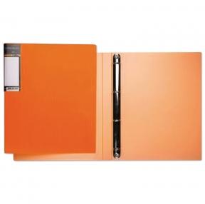 Папка на 4 кольцах HATBER HD, 25 мм, неоново-оранжевая, до 120 листов, 0,9 мм, 4AB4 02035 (224898)