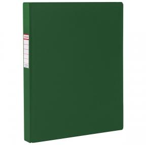 Папка на 4 кольцах BRAUBERG, картон/ПВХ, 40 мм, зеленая, до 250 листов (удвоенный срок службы) (228395)