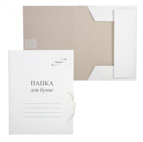 Папка для бумаг с завязками картонная БЮДЖЕТ, плотность 220 г/м2, до 200 листов